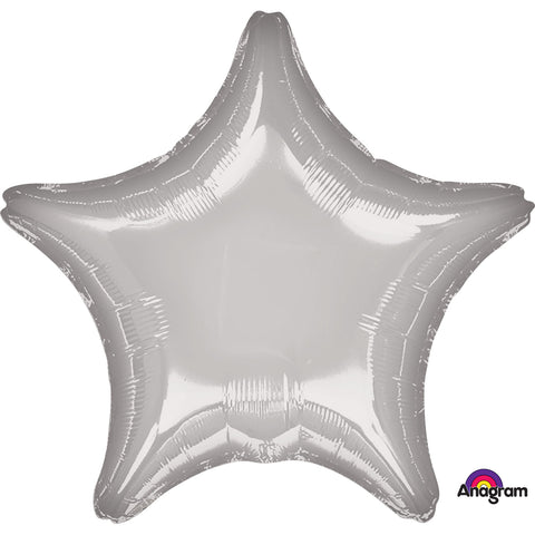 Metallic Silver Star Standard Foil Balloon
