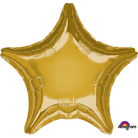 Metallic Gold Star Standard Foil Balloon