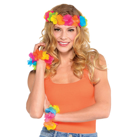 Hawaiian Head Wreath & Wristlets