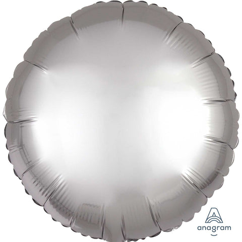 Platinum Circle Satin Luxe Standard Foil Balloon