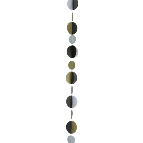 Gold/Silver/Black Circles Balloon Tail