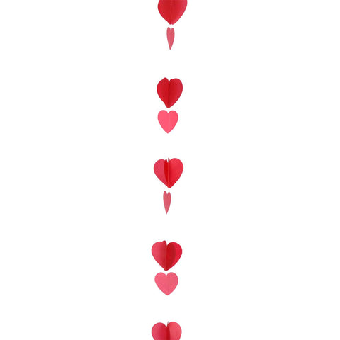 Red & White Heart Balloon Tail