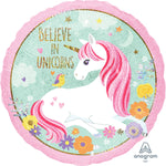 Magical Unicorn Holographic Standard Foil Balloon