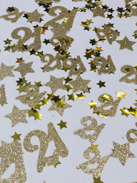 Gold Table Confetti 21 - Any Age, Various Colours