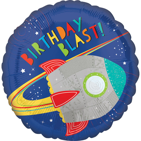 Blast Off Birthday Foil Balloon - FiestaPartyStore.com