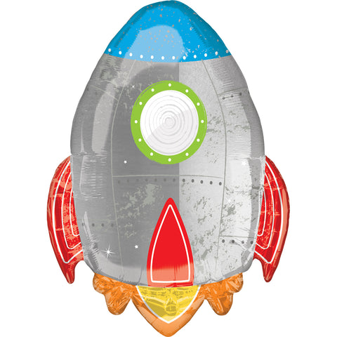 Blast Off - Rocket - Birthday Balloon - FiestaPartyStore.com