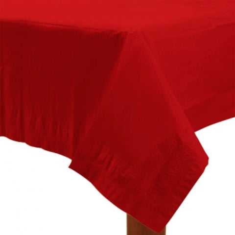 Apple Red Paper Tablecover - FiestaPartyStore.com