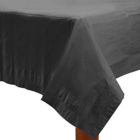 Black Paper Tablecover - FiestaPartyStore.com