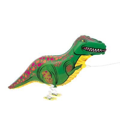 Walking Pet T-Rex Foil Balloon