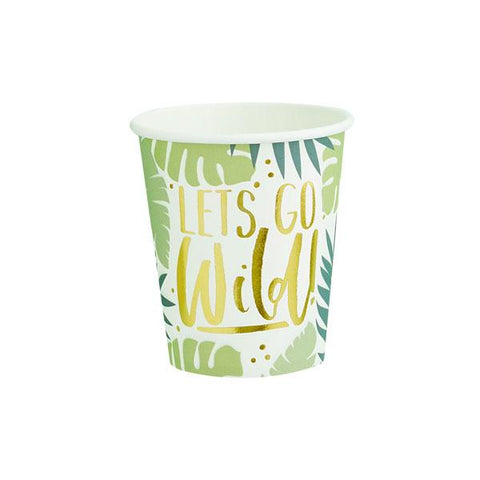 Tropical Leaf Patterned Paper Cups