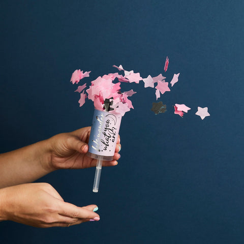 Gender Reveal Confetti Push Pops