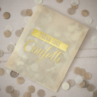 Tissue Confetti Envelopes - Gold-Ivory