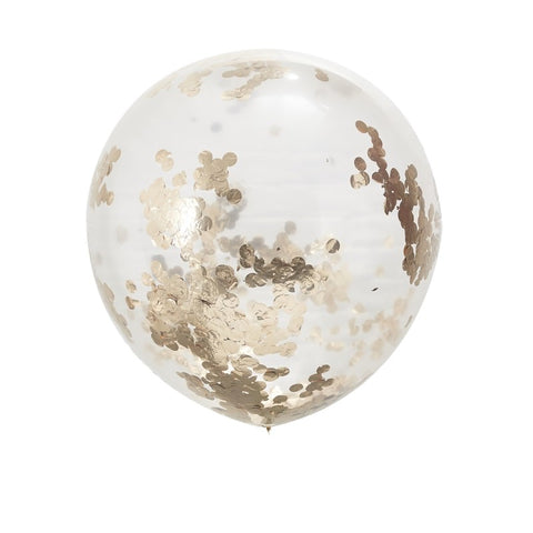 Large Rose Gold Confetti Balloons - Beautiful Botanics