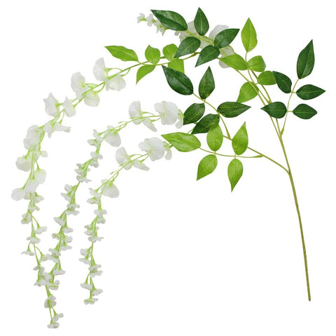 White Artificial Wisteria