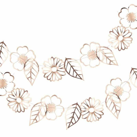 Rose Gold Foiled Flower Garland - Ditsy Floral