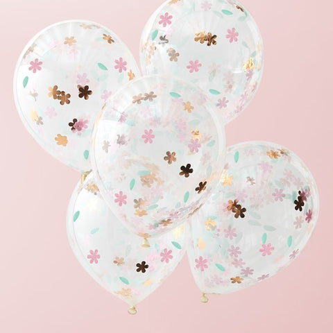 Floral Confetti Balloons