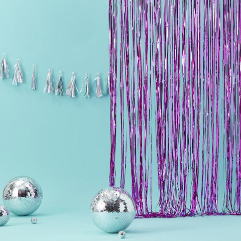 Pink Fringe Curtain Decoration
