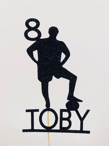 Personalized Footballer Cake Topper