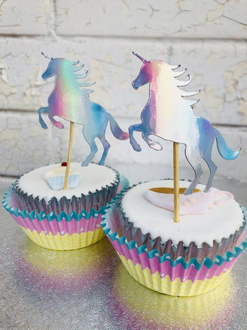 Iridescent Unicorn Cupcake Picks