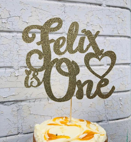 1st Birthday Personalized Cake Topper - FiestaPartyStore.com