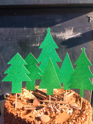 Christmas Tree Forest Cake Topper