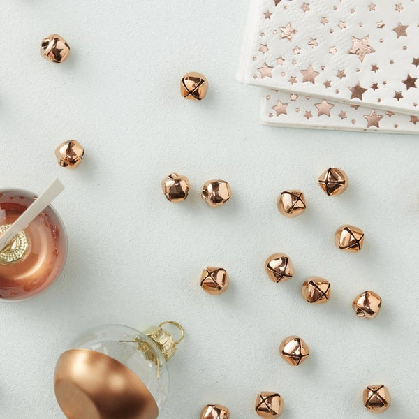Rose Gold Bell Confetti Decorations