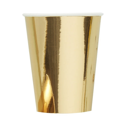 Gold Foiled Paper Cups