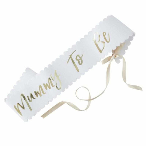 Mummy To Be - Gold foiled Sash