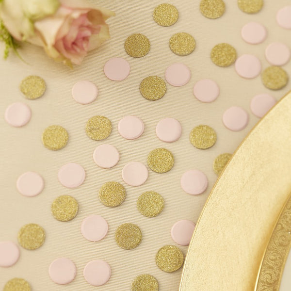 Table Confetti - Gold & Pink Glitter
