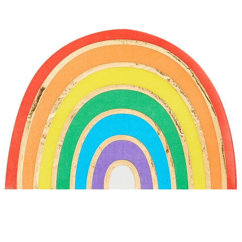 Rainbow & Gold Foiled Paper Party Napkins