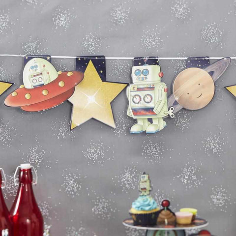 Robot and Spaceship Bunting - Space Adventure Party