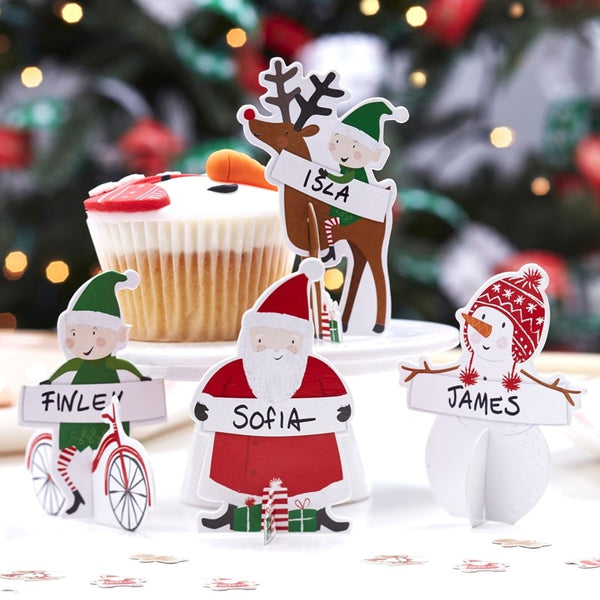 3D Christmas Character Place Cards