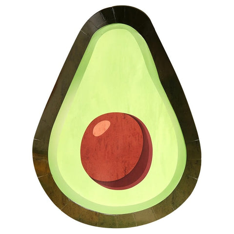 Avocado Shaped Paper Plates