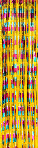 Multi Coloured Foil Curtain Backdrop