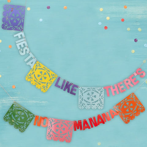 Fiesta Like There's No Manana Flag Paper Party Bunting