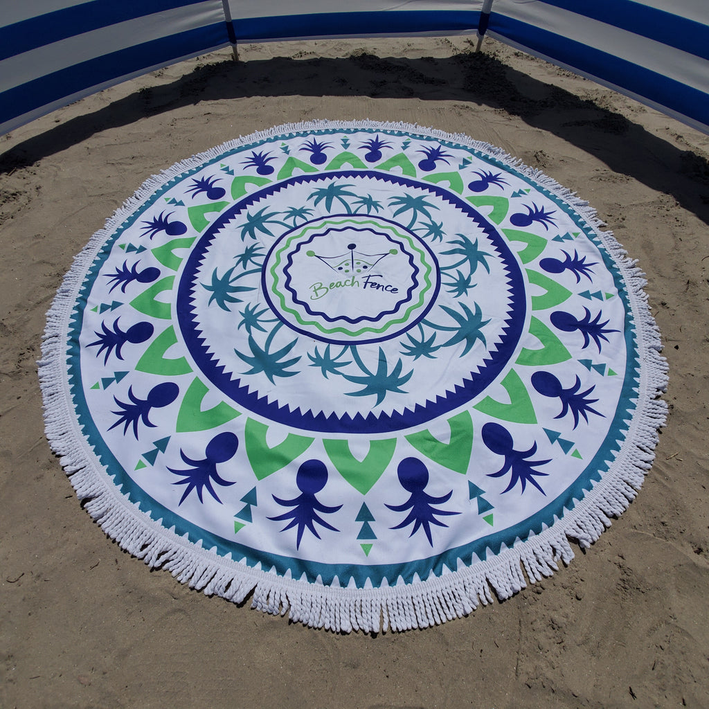 Beach Fence - XL Round Towel - Beach Comfortable!