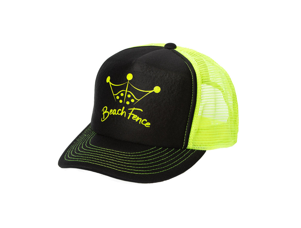 Green on Black BeachFence Snapback - Beach Comfortable!