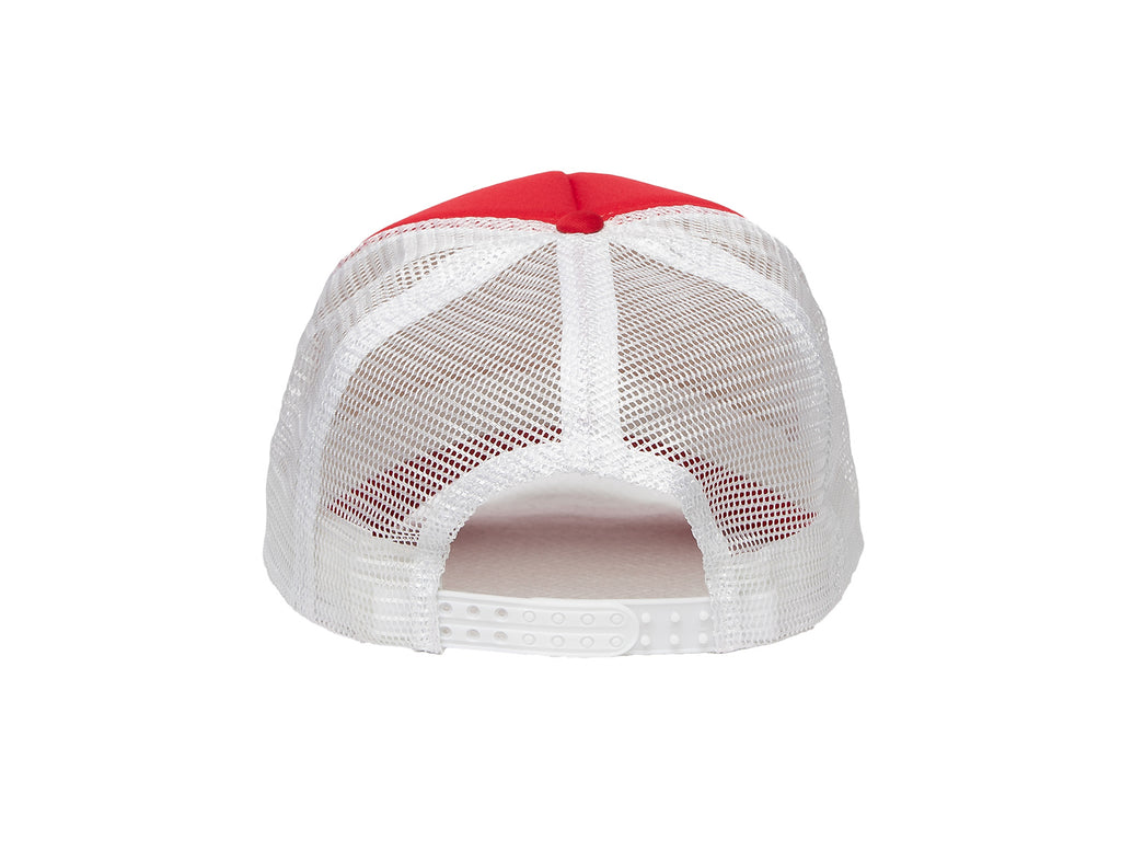 White on Red BeachFence Snapback - Beach Comfortable!