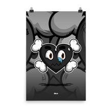 Load image into Gallery viewer, Heartbreak Poster (black)
