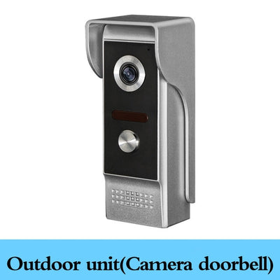 4.3'' TFT Color Wired Video Intercom Door Phone Doorbell System for home 700TVL IR Night Vision Outdoor Camera Metal Waterproof