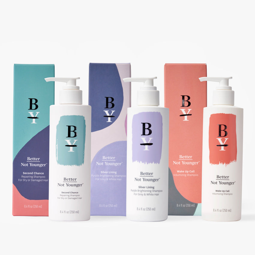 Better Not Younger's collection of shampoos are all made vegan and free of cruelty, parabens, sulfates and other harmful ingredients.