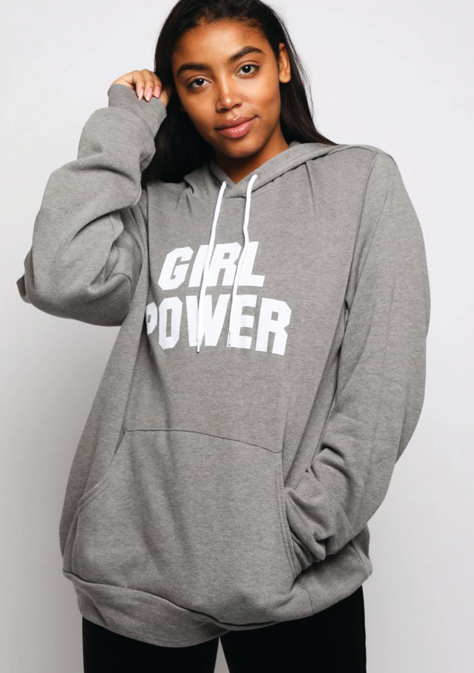 Girl Power Unisex  Fleece Pullover Hoodie