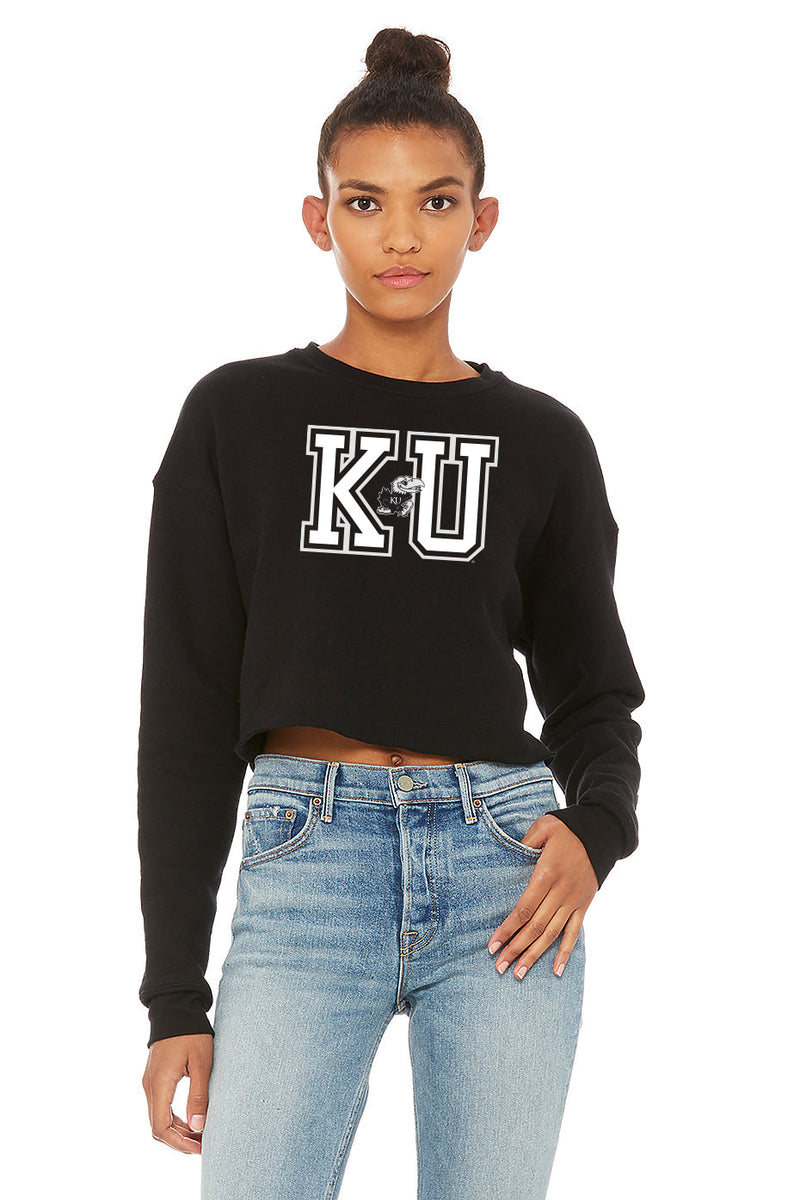 KU Cropped Sweatshirt
