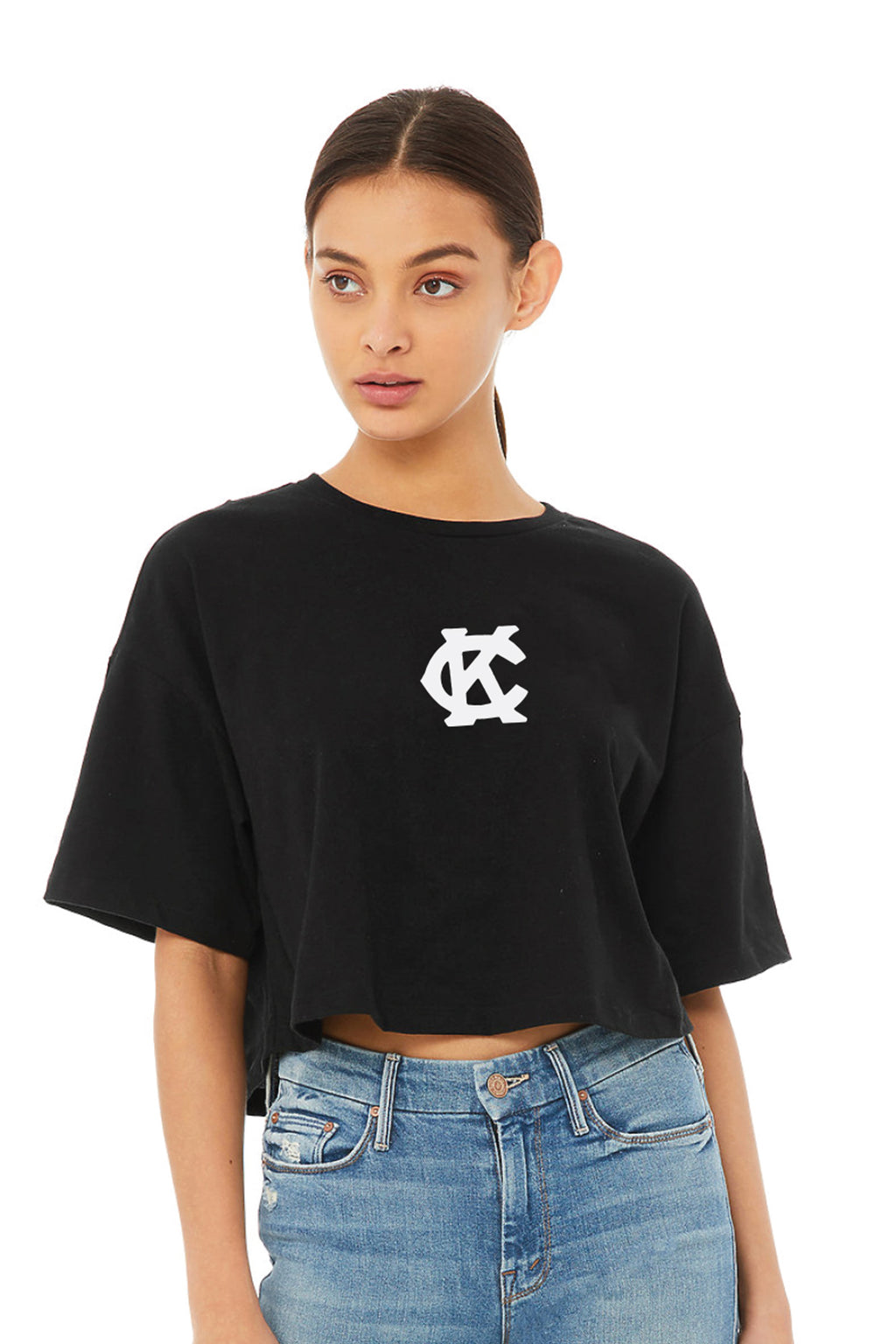 Cherry Monarch Cropped Tee
