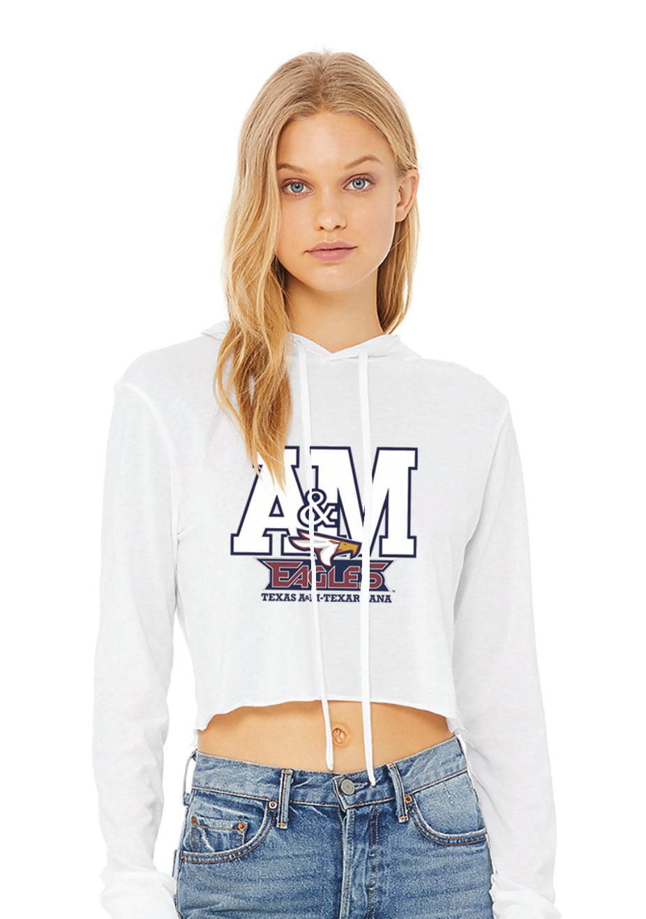 Texas A & M Cropped Hoodie