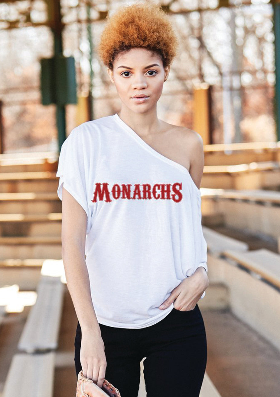 Monarchs Off-The-Shoulder Tee