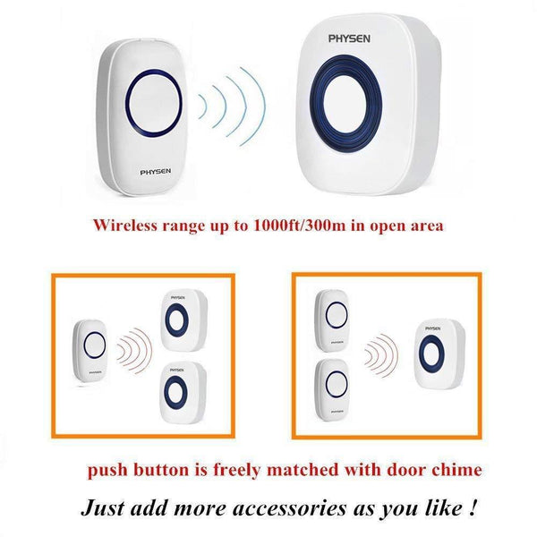 Wireless Doorbell CWA push button expandable
