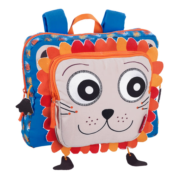Kindergarten Schoolbag Orange Faces
