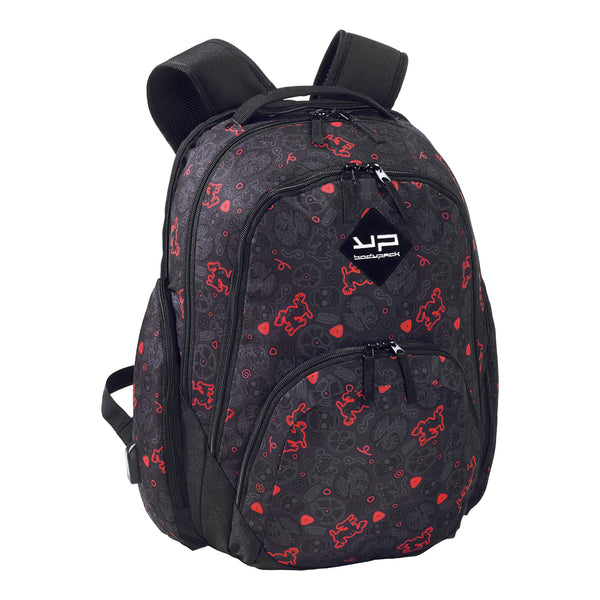 Red Skull Computer Backpack and Usb Port