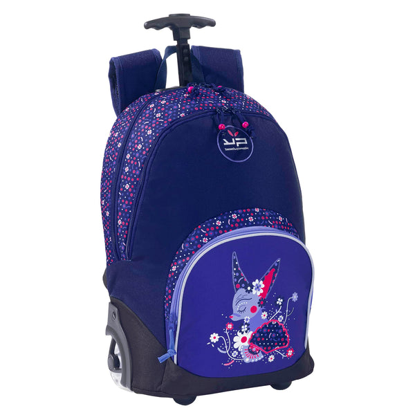 Fox Purple Wheeled Backpack